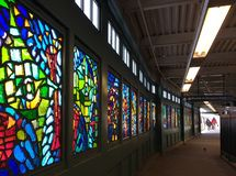 Franklin Avenue Subway Station, Brooklyn, NY, de V.S. royalty-vrije stock afbeelding