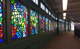Franklin Avenue Subway Station, Brooklyn, NY, USA Royalty Free Stock Photo