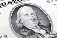 Franklin. It is Benjamin Franklin in one dollar note bank Royalty Free Stock Images