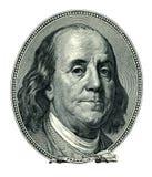 Franklin Benjamin portrait cutout Royalty Free Stock Image