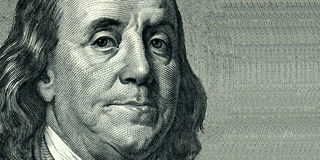 Franklin Benjamin portrait royalty free stock photography