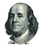 Franklin Benjamin-Porträtausschnitt (Beschneidungspfad) Lizenzfreie Stockfotos