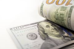 Franklin 100 bills Stock Photo