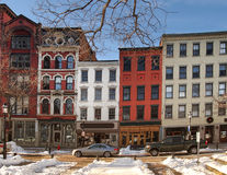 The Franklin Buildings. Syracuse, New York, USA. Febuary 18 ,2017. The Franklin Buildings in historic Hanover Square Stock Photography