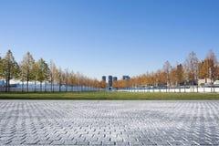 Franklin D Roosevelt Four Freedoms Park auf Roosevelt Island herein Lizenzfreies Stockbild