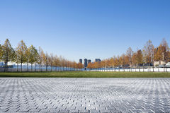 Franklin D. Roosevelt Four Freedoms Park on Roosevelt Island in Royalty Free Stock Image