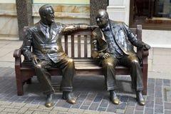 Franklin D. Roosevelt y Winston Churchill Statue i Fotos de archivo