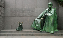 Franklin Delano Roosevelt Memorial. Statue of Franklin Delano Roosevelt and his dog at the FDR Memorial in Washington, D.C Stock Photo