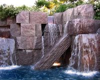 Franklin Delano Roosevelt Memorial. Waterfall at the FDR memorial Stock Image