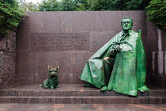 Franklin Delano Roosevelt Memorial i Washington Arkivfoto