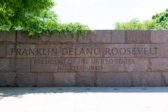Franklin Delano Roosevelt Memorial Washington Royalty-vrije Stock Afbeeldingen