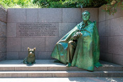 Franklin Delano Roosevelt Memorial Washington Royaltyfri Foto