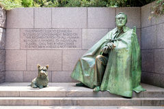 The Franklin Delano Roosevelt Memorial in Washington D.C. Stock Image