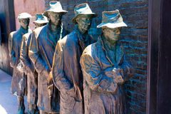 Franklin Delano Roosevelt Memorial in Washington. Great Depression sculpture Stock Images