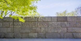 Franklin Delano Roosevelt Memorial in Washington - WASHINGTON DC - COLUMBIA - APRIL 7, 2017. Franklin Delano Roosevelt Memorial in Washington - WASHINGTON DC Royalty Free Stock Photography