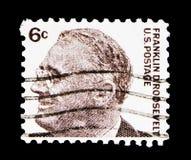 Franklin Delano Roosevelt (1882-1945), 32nd president, berömt f.m. Royaltyfria Bilder
