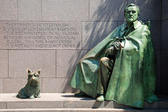 Franklin- Delano Rooseveltdenkmal in Washington D Stockbild