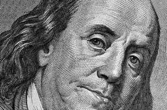 Franklin on dollar bill. Royalty Free Stock Image