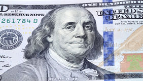 Franklin. Dollar bill closeup. Portrait of Franklin royalty free stock photography