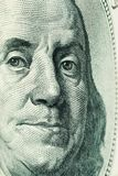 Franklin face(one hundred dollars) Royalty Free Stock Photo
