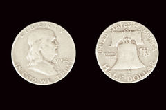 Franklin Half Dollar Royalty Free Stock Image