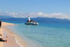 Franklin Island tour. Semi submersible reef tour near Cairns Stock Photo