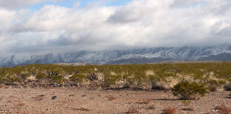 Franklin Mountain. Snow on the Franklin Mountains, El Paso, Texas Stock Photos