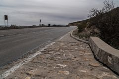 The Franklin Mountains  scenic overlook road in Texas. The El Paso, Texas scenic overlook road in the Frankilin Mountains el-paso usa arid desert drive hiking stock photos