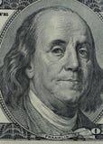 Franklin på 100 dollar Arkivbild