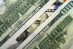 Franklin peeping with a hundred dollar bill Royalty Free Stock Photography