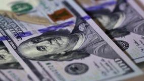 Franklin-Porträt auf Banknote stock video