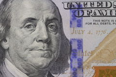 Franklin portrait on banknote. American dollar money Franklin portrait stock photo