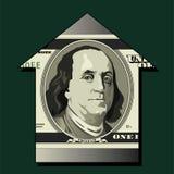 Franklin portrait on money Royalty Free Stock Photography