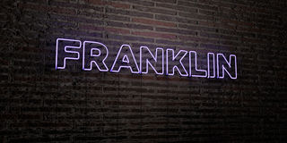FRANKLIN -Realistic Neon Sign on Brick Wall background - 3D rendered royalty free stock image. Can be used for online banner ads and direct mailers vector illustration