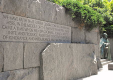Franklin Roosevelt Memorial Imagen de archivo libre de regalías