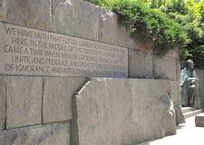 Franklin Roosevelt Memorial Immagine Stock Libera da Diritti