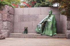 Franklin Roosevelt Statue in Autumn Washington DC Royalty Free Stock Photo