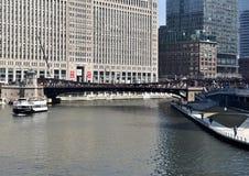 Franklin Street Bridge stock photography