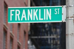 Franklin Street, New York Stock Photography