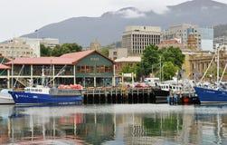 Franklin Wharf in Hobart, Australia stock images