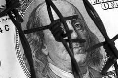 Franklin y alambre de púas foto de archivo