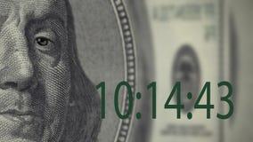 Franklin Zeit ist Geld stock video