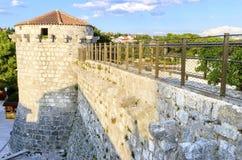 Frankopan城堡, Krk,克罗地亚 免版税图库摄影