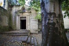 Frankreich, Arles, alte Kirche und Baum Lizenzfreie Stockfotografie