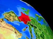 Frankreich auf Planet Erde vektor abbildung