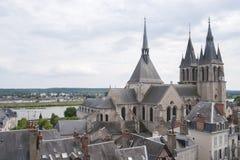 FRANKREICH, BLOIS - 26. JULI 2014: Ansicht der Kathedrale von St. Nich Stockfotografie