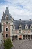Frankreich, BLOIS - 26. Juli 2014: Fragment des Schlosses Blois Shootin Lizenzfreie Stockfotos