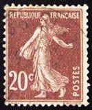 Frankreich circa Säenfrau 1906 Lizenzfreies Stockfoto