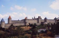 Frankreich: Das Chateau und das Fort Carcassogne lizenzfreie stockfotos