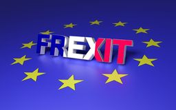 Frankreich, das EU verlässt stock abbildung
